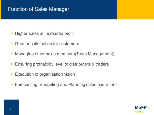 Marketing of Financial Products & Services Sales Force Management