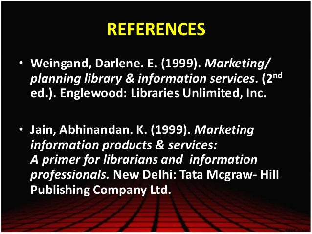 Information product services