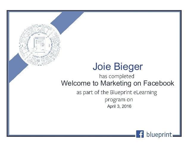 Welcome to marketing on facebook certification welcome to marketing on facebook april 3 2016 joie bieger malvernweather Choice Image