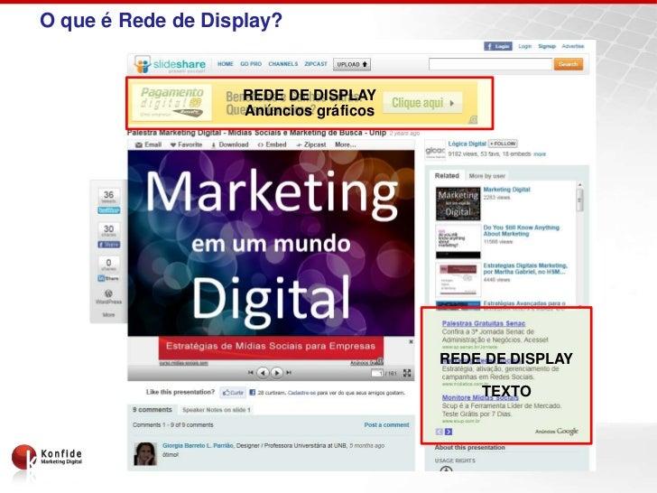 O que é Rede de Display?                    REDE DE DISPLAY                    Anúncios gráficos                          ...