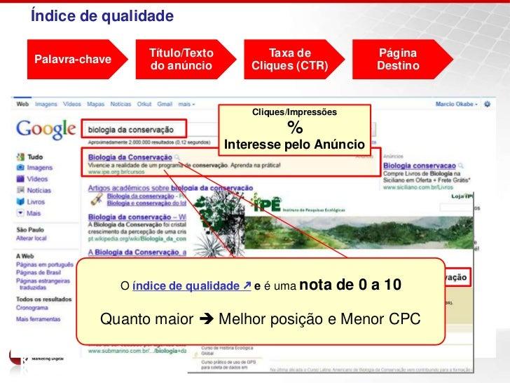 Índice de qualidade                    Título/Texto          Taxa de            PáginaPalavra-chave                    do ...