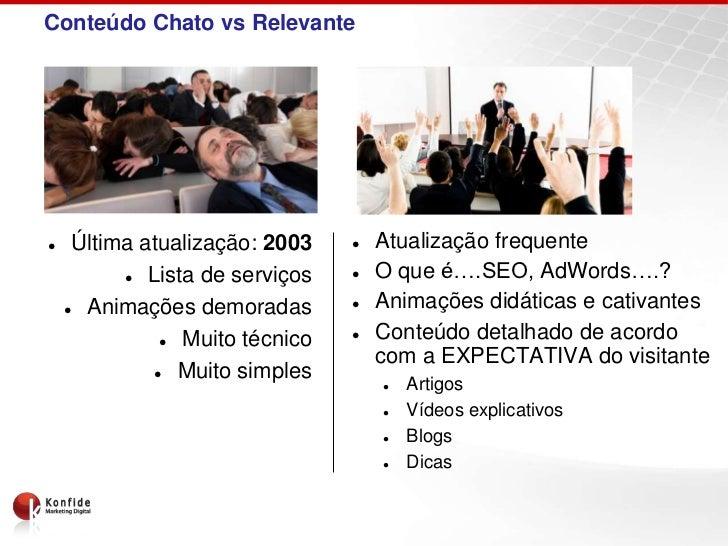 Conteúdo Chato vs Relevante    Última atualização: 2003       Atualização frequente            Lista de serviços      ...