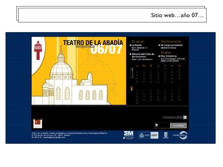 Sitio web…año 07…