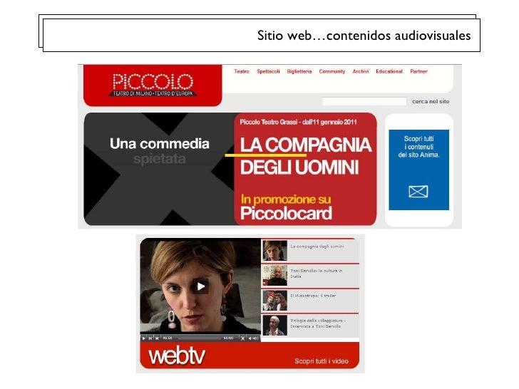 Sitio web…contenidos audiovisuales