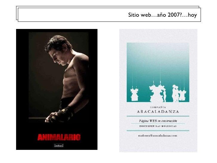 Sitio web…año 2007?…hoy