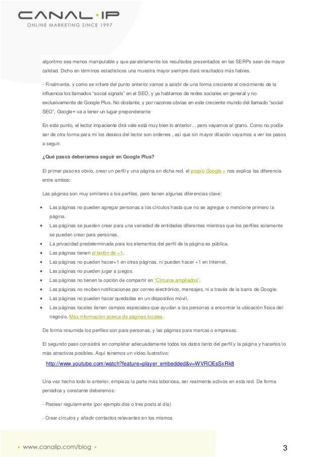 Marketing online google plus y seo Slide 3
