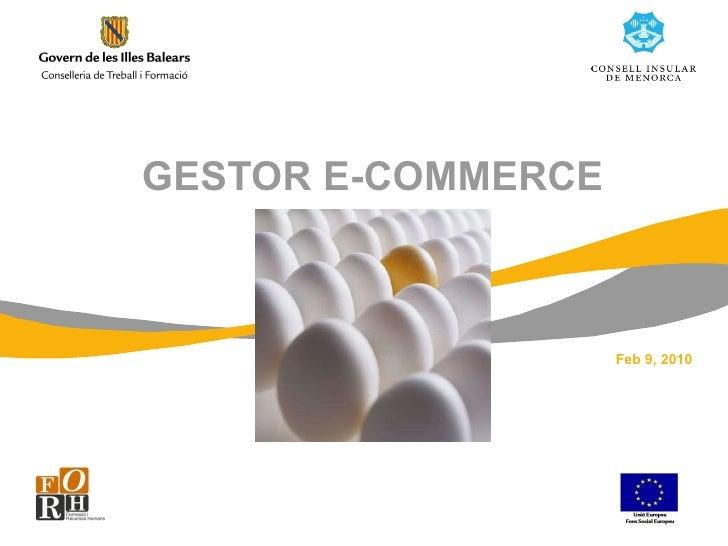 GESTOR E-COMMERCE Feb 9, 2010