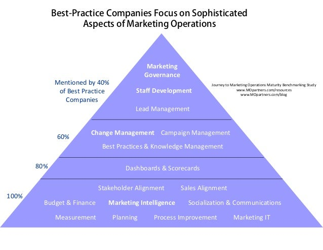 Best-Practice Companies Focus on Sophisticated                     Aspects of Marketing Operations                        ...