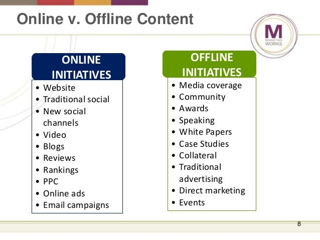 difference between online and offline marketing pdf