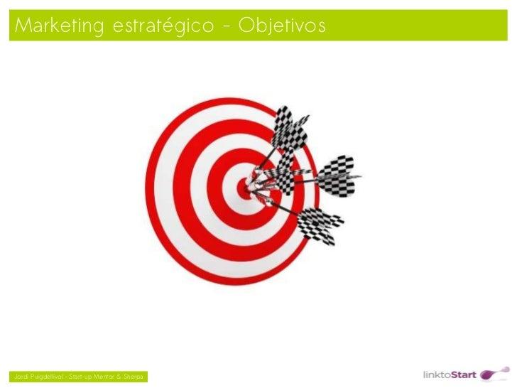 Marketing estratégico - Objetivos                                               Jordi Puigdellívol – Start-up Mentor & S...