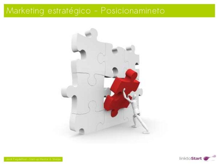Marketing estratégico - Posicionamineto                                               Jordi Puigdellívol – Start-up Ment...