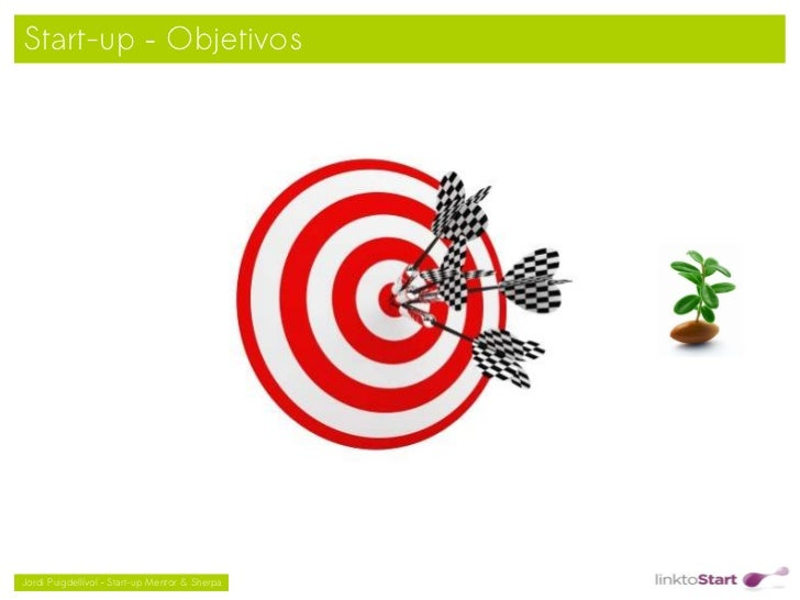 Start-up – Objetivos                                               Jordi Puigdellívol – Start-up Mentor & Sherpa