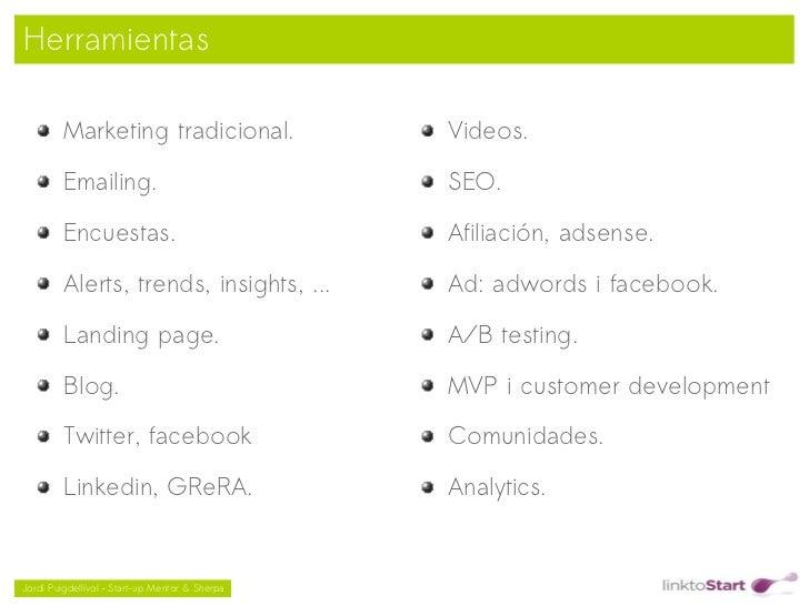 Herramientas         Marketing tradicional.                     Videos.         Emailing.                                 ...