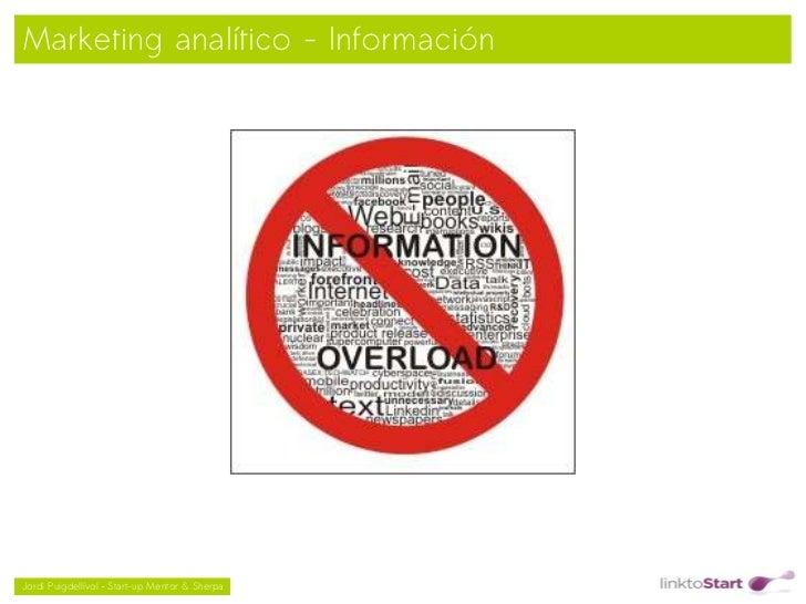 Marketing analítico - Información                                               Jordi Puigdellívol – Start-up Mentor & S...