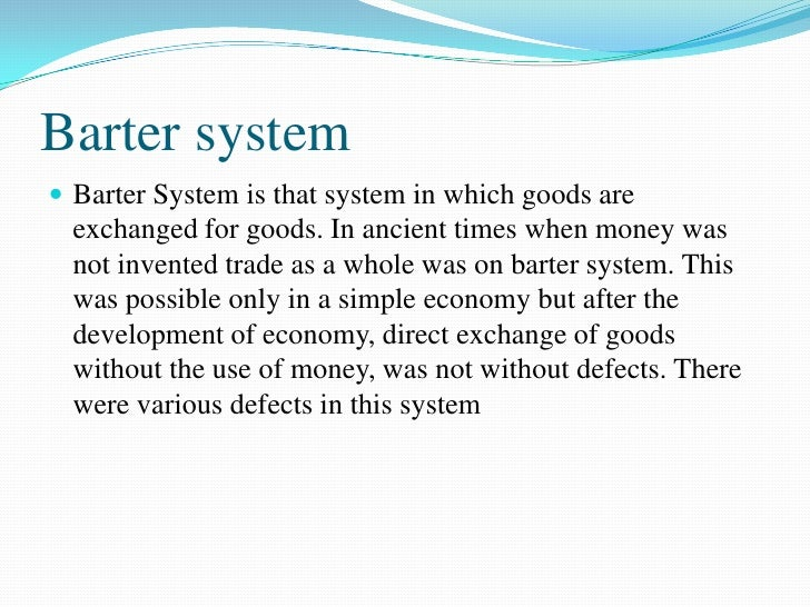 defects of barter system