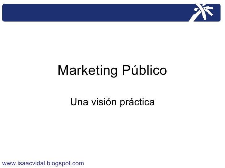 Marketing Público Una visión práctica