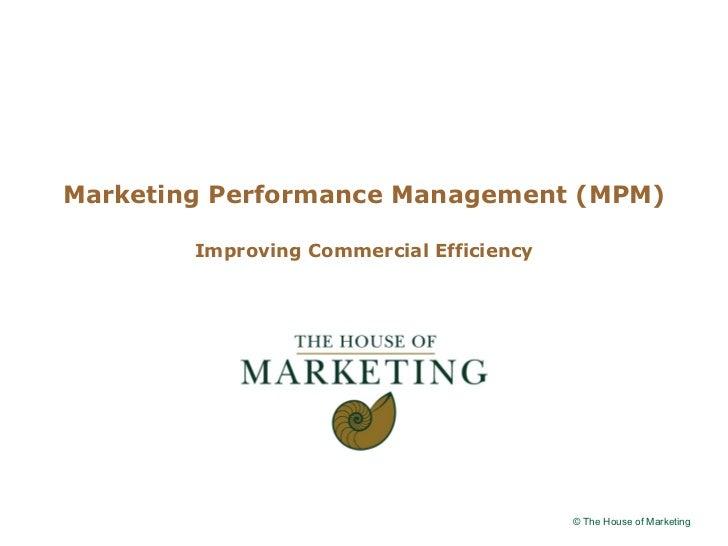 Logo clientMarketing Performance Management (MPM)        Improving Commercial Efficiency                                  ...