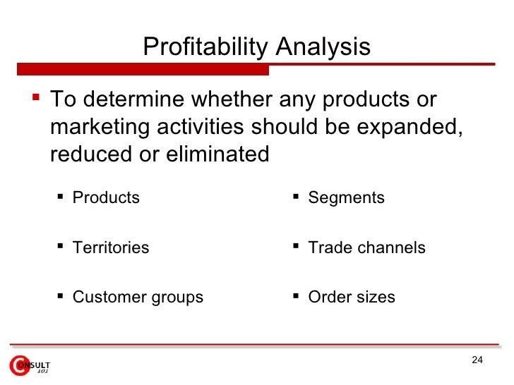 Profitability Analysis <ul><ul><li>Products </li></ul></ul><ul><ul><li>Territories </li></ul></ul><ul><ul><li>Customer gro...