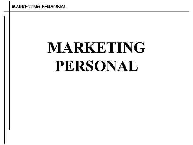 MARKETING PERSONAL  MARKETING  PERSONAL