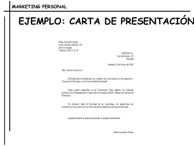 cartas de presentacion personal