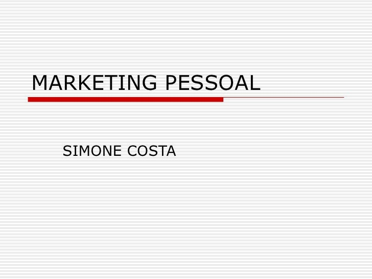 MARKETING PESSOAL SIMONE COSTA