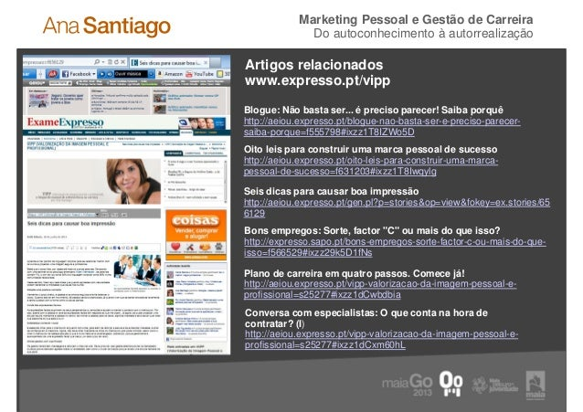 Marketing Pessoal e Gestão de Carreira                    Do autoconhecimento à autorrealização     Artigos relacionados  ...