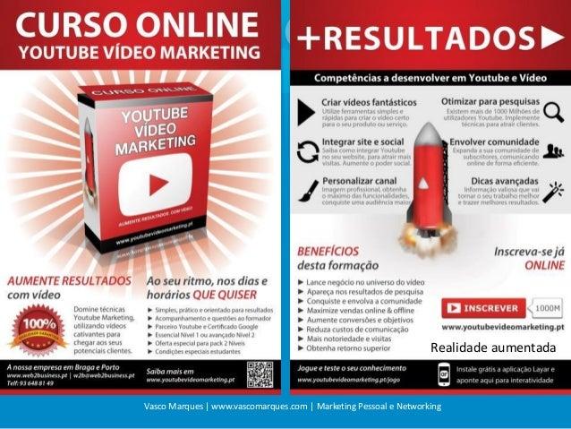 Realidade aumentada  Vasco Marques | www.vascomarques.com | Marketing Pessoal e Networking