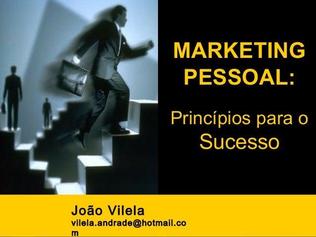 MARKETING                                PESSOAL:                              Princípios para o                          ...