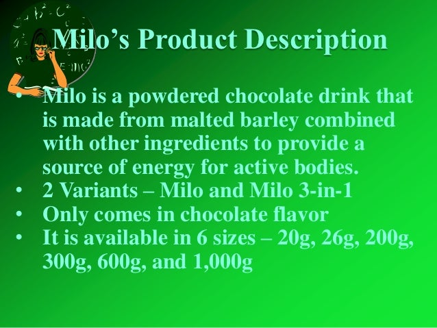Benefits Of Milo Energy Drink