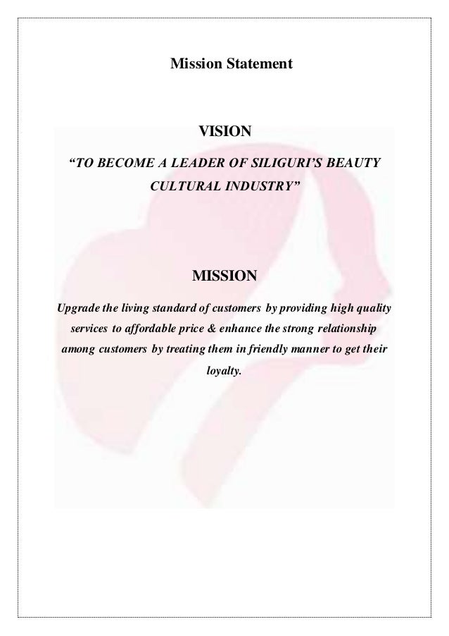 Marketing plan for A mission statement for a beauty salon
