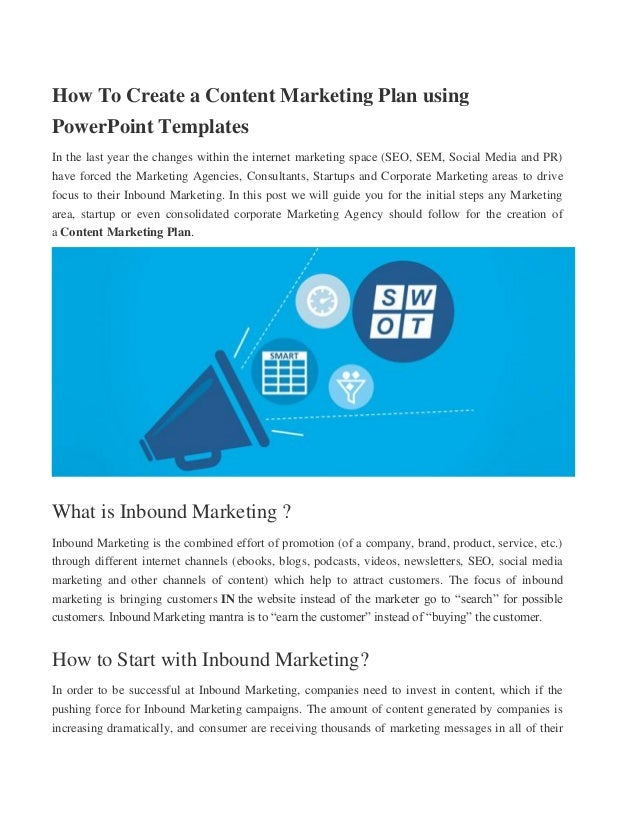 how to creat content marketing plan using powerpoint templates, Modern powerpoint