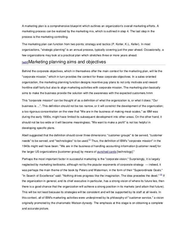 Marketing plan wikipedia good malvernweather Gallery