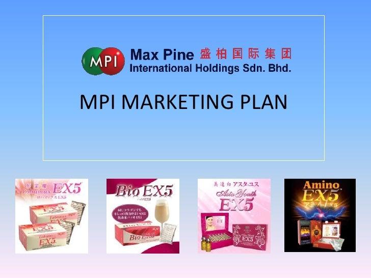 MPI MARKETING PLAN<br />