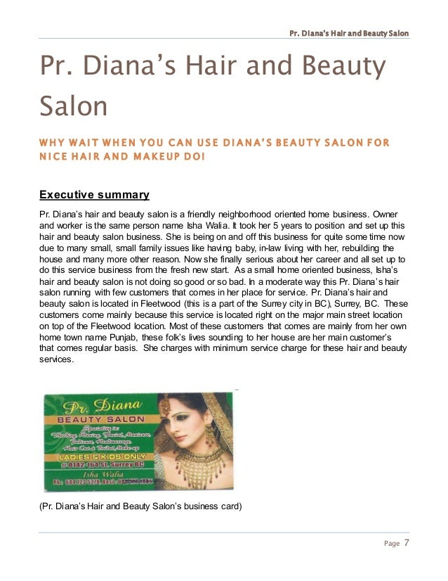 how to conclusion for beauty salon plan Trend setters hair studio hair and beauty salon business plan company summary trend setters is a full-service hair and beauty salon.