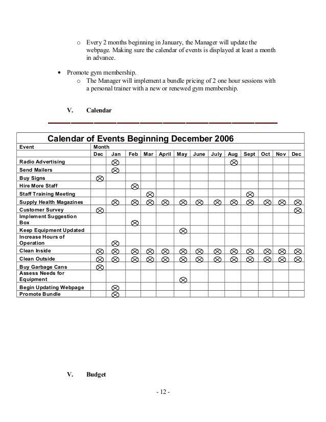 marketing plan for gym pdf