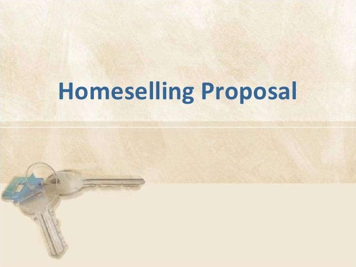 Homeselling Proposal