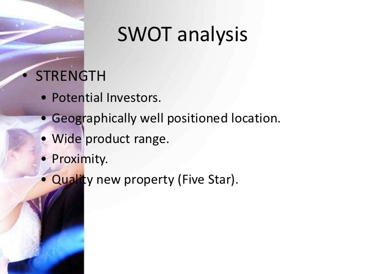 a swot analysis of the 5 star imperial hotel By type, the hotels market has been segmented into 1 star, 2 star, 3 star, 4 star, 5 star and unrated among others unstable political environment is one of the major factors restraining the hotels industry.