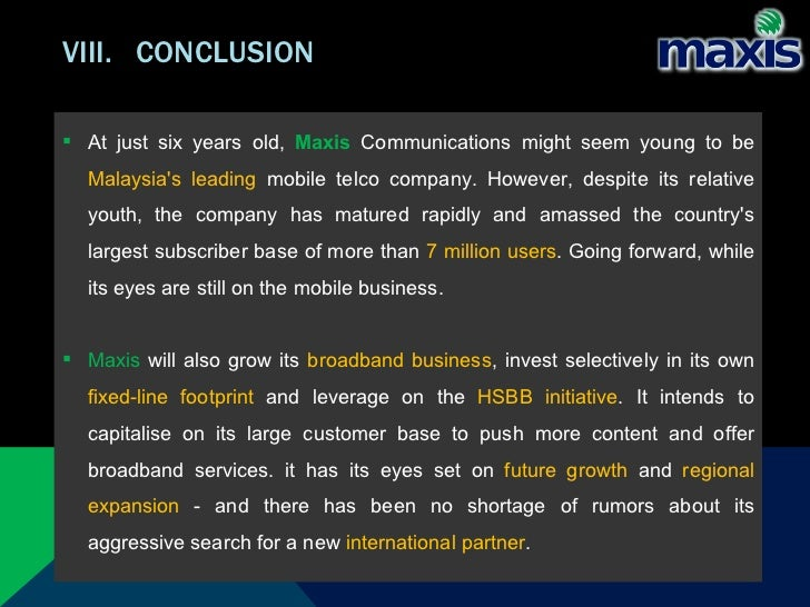 Maxis Communications Berhad Essay