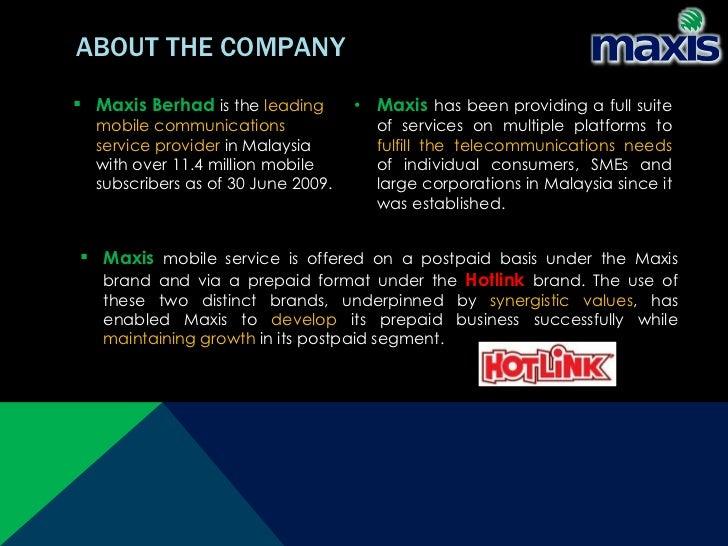 maxis company profile slideshare