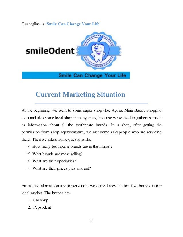 brand performance in toothpaste marketing essay A situational analysis of toothpaste industry introduction: at present, several well-known brands in the domestic toothpaste manufacturers become increasingly competitive, such as braun oral-b, colgate, darlie and so on.