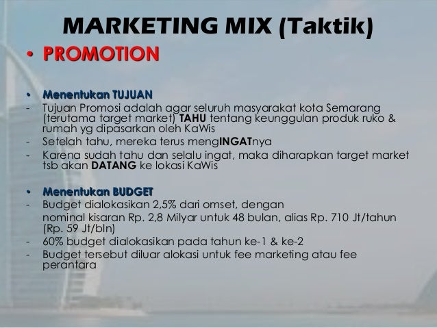 Marketing Plan for Property