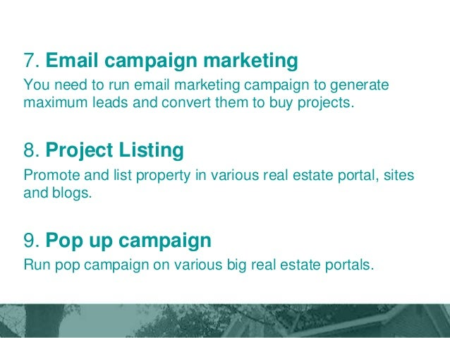 Marketing Plan For Real Estate Company