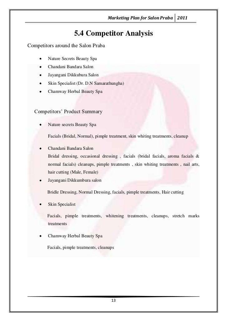 ... 15. Marketing Plan For Salon ...