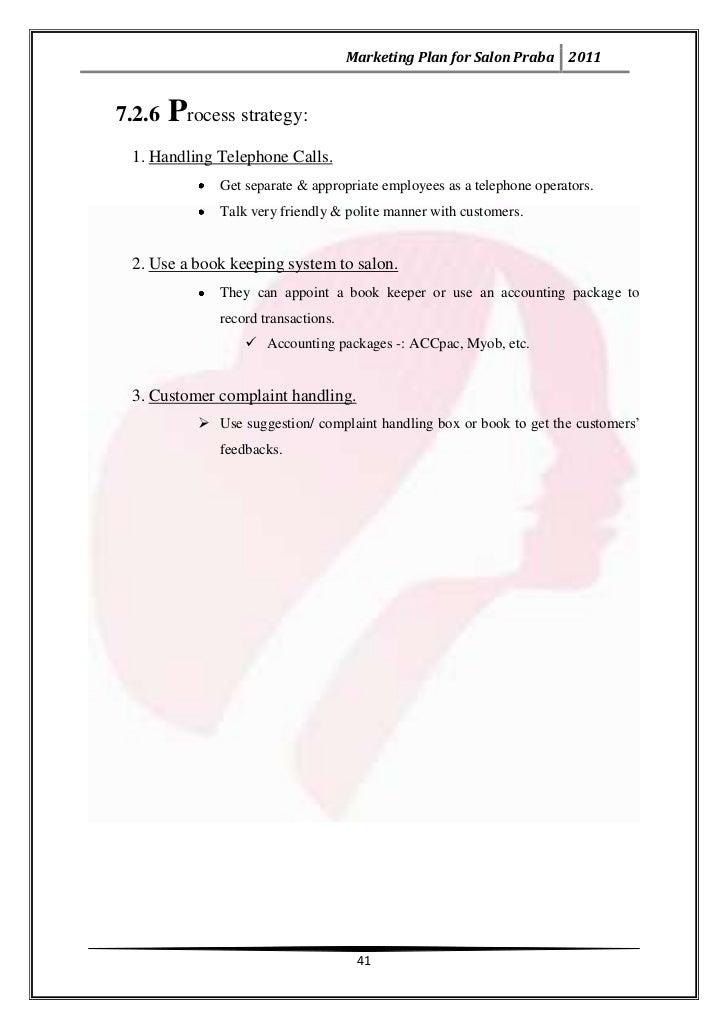 Marketing plan for salon praba 40 43 altavistaventures Image collections