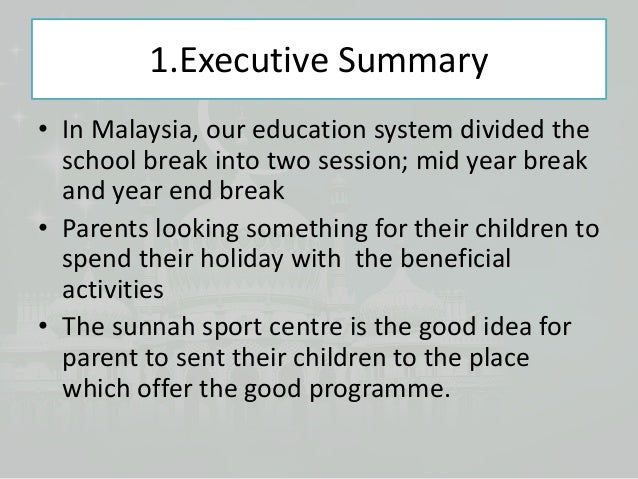 Marketing plan for sunnah sport centre