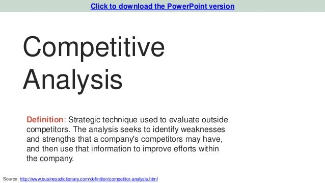 Marketing plan template for tech startups powerpoint version 13 competitive analysis definition strategic pronofoot35fo Images