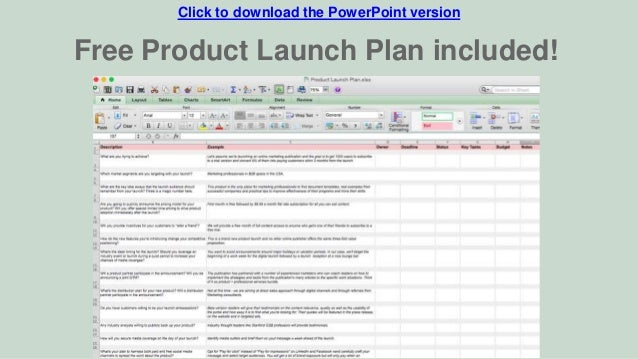 Marketing Plan Template for Tech Startups
