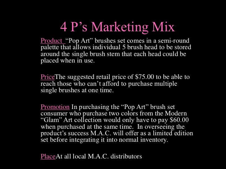 Marketing Plan MAC Cosmetics (New Product Development)