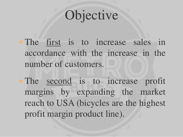 Marketing plan for metro bikes group_09
