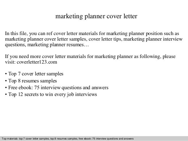Marketing Planner Cover Letter In This File, You Can Ref Cover Letter  Materials For Marketing ...  Marketing Cover Letters